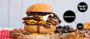 Burger με κοτόπουλο και μανιτάρια