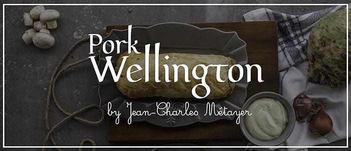 Χοιρινό Wellington με πουρέ σελινόριζα