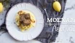 Μοσχάρι Λεμονάτο με πηρουνάτο πουρέ πατάτας