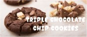 Soft Cookies με τρεις Σοκολάτες