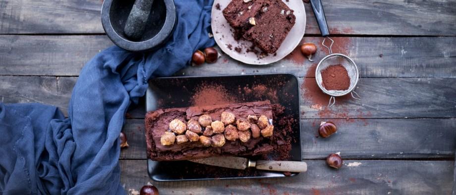 Κέικ σοκολάτας με κάστανα, χωρίς γλουτένη