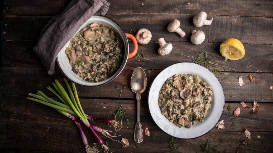 Μαγειρίτσα με μανιτάρια: vegetarian και πεντανόστιμη