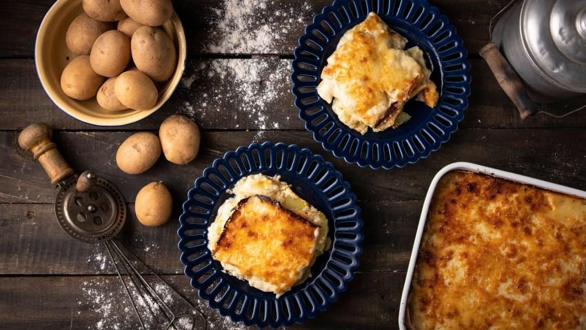 Πατάτες ογκρατέν (au gratin) με τυριά