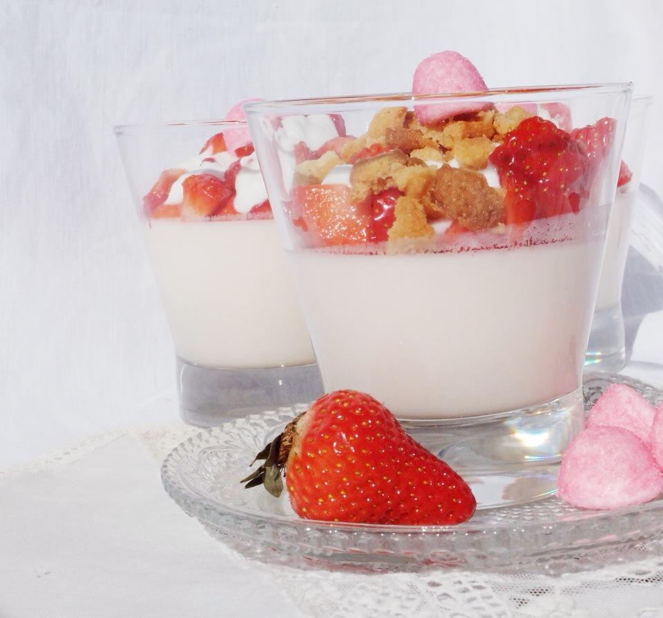 panacotta fraise