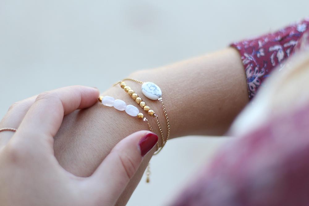 bracelet red macchiato
