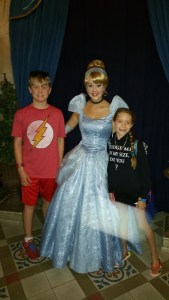 With Cinderella at Cinderella's Royal Table Restaurant