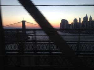 A beautiful sunset over the East River