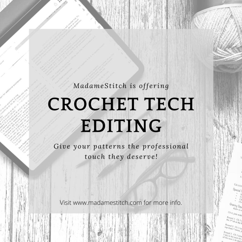 Crochet Technical Editing by MadameStitch