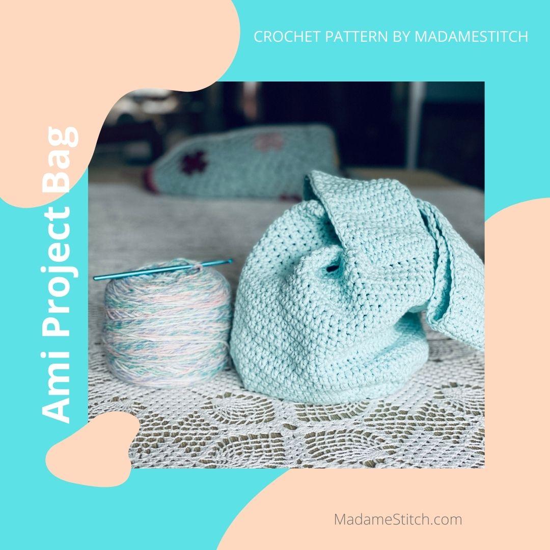 The Crochet Ami Project Bag Pattern via @madamestitch