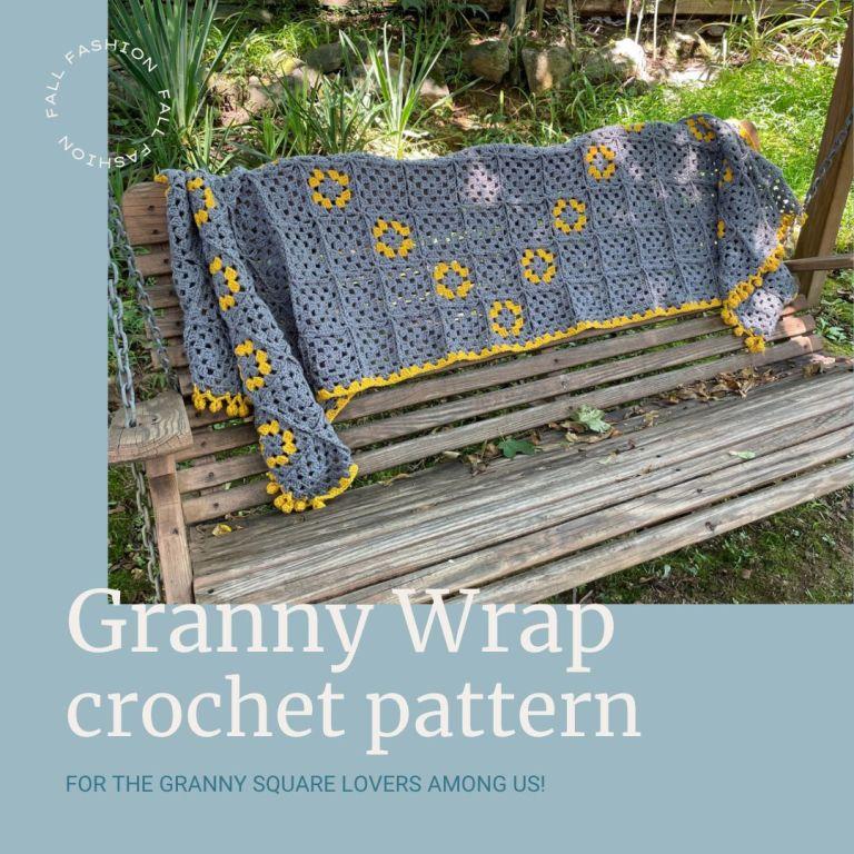 Granny Square Wrap crochet pattern for granny square lovers!