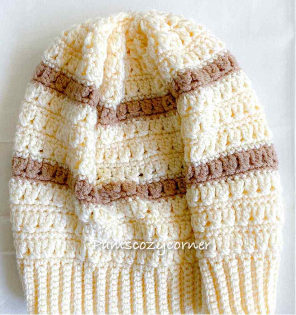 Criss Cross Hat by Pam's Cozy Corner