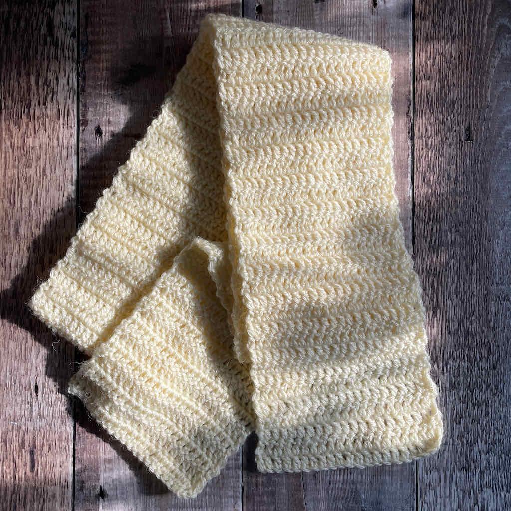 Easy double crochet scarf free pattern