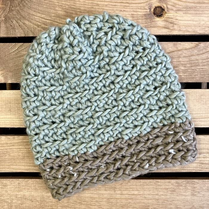 Easy Peasy Textured Beanie hat pattern by Simply Hooked by Janet