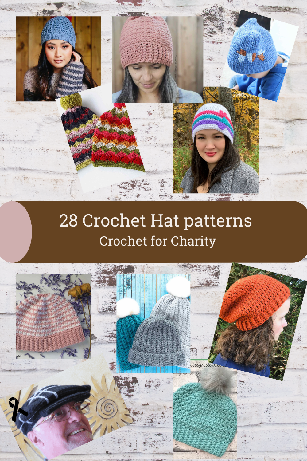 National Make a Hat Day is September 15. Hats are a quick and inexpensive gift, either for someone you love or someone in need. In this roundup post, I've gathered 28 crochet hat patterns perfect for any member of the family. They are also a great option for crochet for charity. via @madamestitch