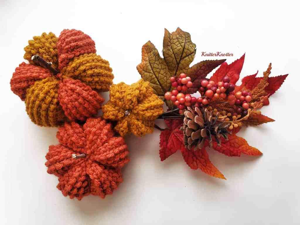 Tunisian fall pumpkin crochet pattern