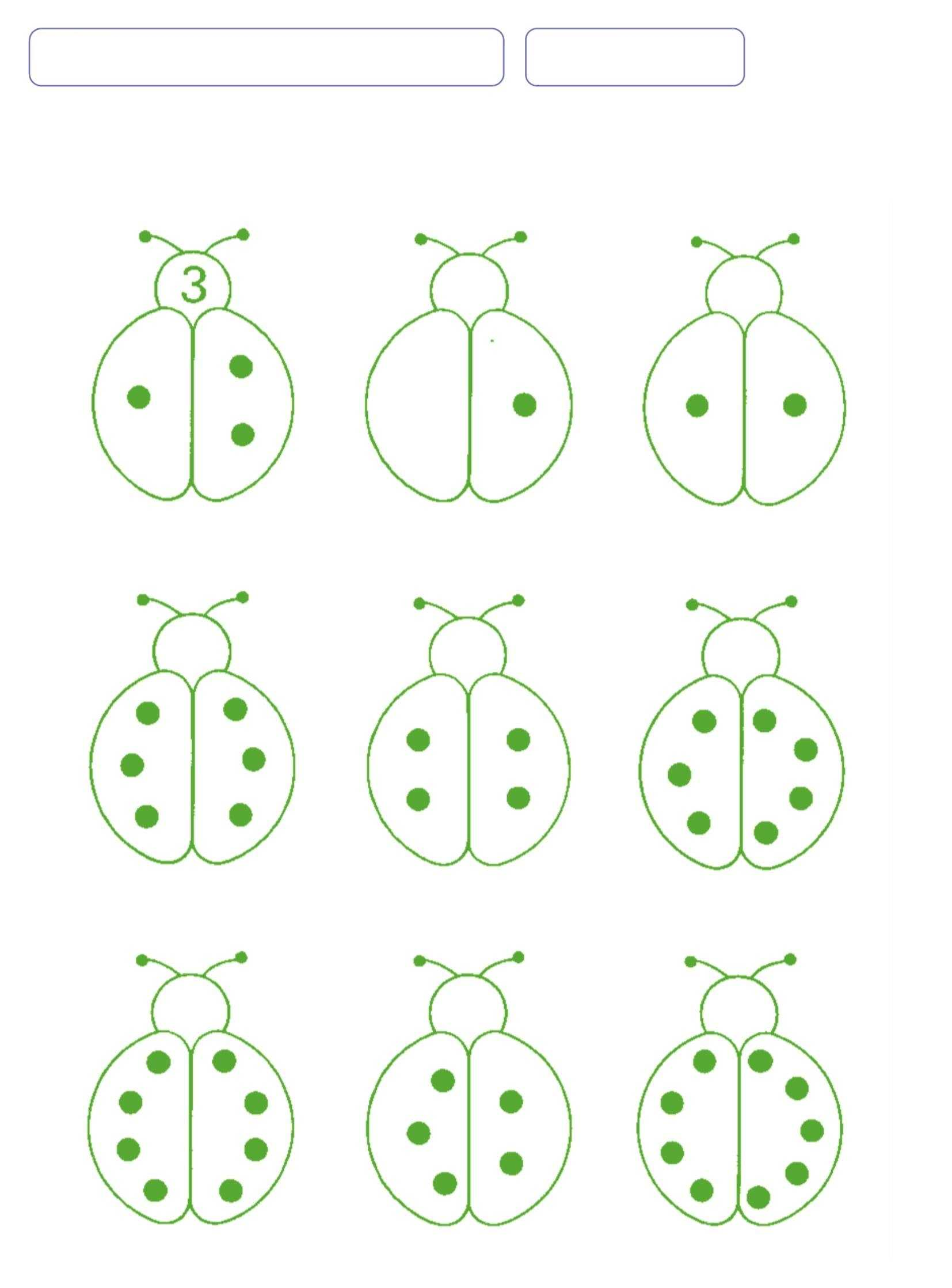 Ladybug Number Counting And Writing Worksheet