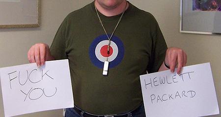 Fuck You Hewlett Packard by Loz Flowers