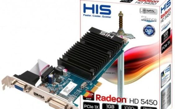 HIS Radeon HD 5450 Silence, PCI-Express x1
