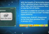 Intel Atom E600-series compatible con Android para el 2012