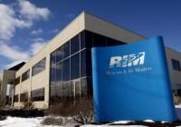 Declaración de RIM sobre rumores de división de la Compañía