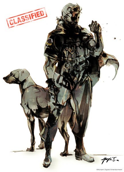 Big Boss con el logo de Diamond Dogs en el hombro
