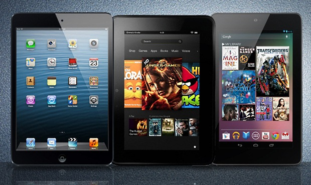 Comparativa: iPad Mini vs Kindle Fire HD vs Nexus 7