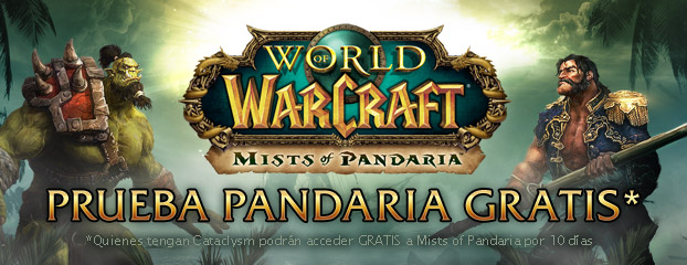 Versión de prueba de World of Warcraft: Mists of Pandaria ya está disponible.