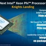 """Intel anuncia sus próximos Xeon Phi de segunda generación """"Knights Landing"""" de 14nm"""