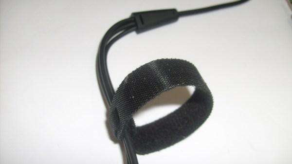 Velcro, nos ayudara a mantener nuestro extenso cable en orden.