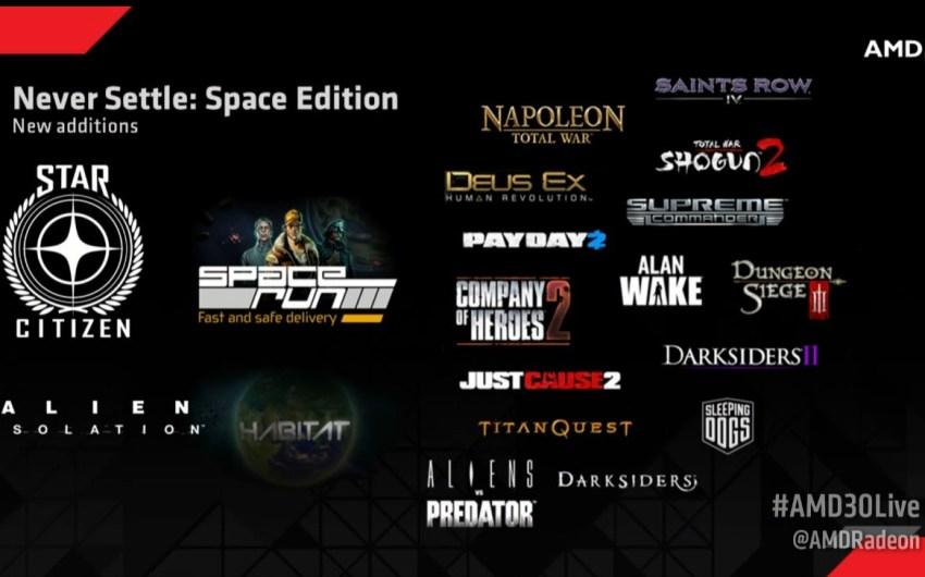 AMD anuncia su Never Settle: Space Edition