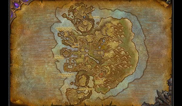 El mapa de la Isla de Ashran, donde toda la zona es PvP.