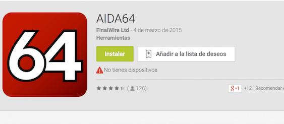 AIDA64 llega a Android!