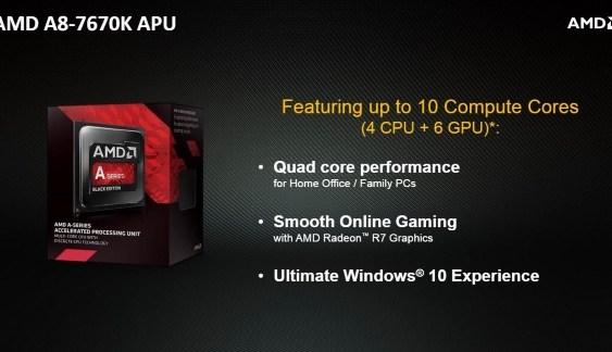 "AMD introduce su APU A8-7670K ""Godavari"" a tiempo para Windows 10"
