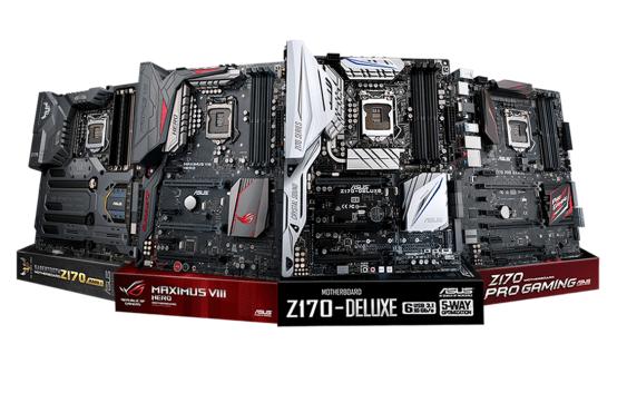 ASUS anuncia las Motherboards Series Z170