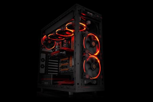 Thermaltake Riing RGB LED Radiator Fan _ Red
