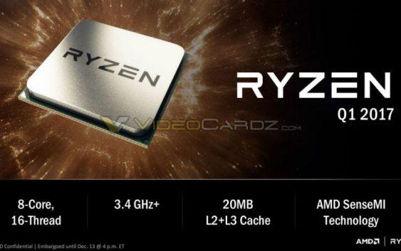 AMD ZEN Ryzen 8 cores a 3.4GHz. AMD comienza a revelar su nueva generación.
