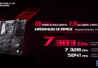 Overclockers logran 8 records mundiales con la nueva ASUS Z270 Maximus IX Apex e Intel Core I7 7700K.
