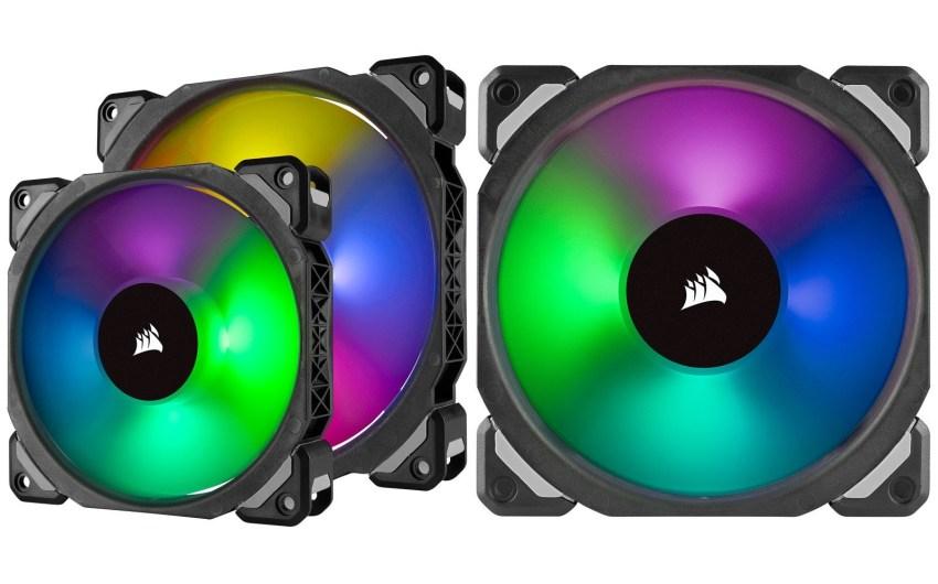 Refrigeración silenciosa en cualquier color con los ventiladores de levitación magnética ML PRO RGB de Corsair