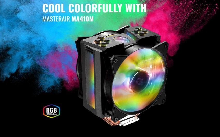 Cooler Master presenta su nuevo sistema de refrigeración por aire RGB-Touting MA410M.