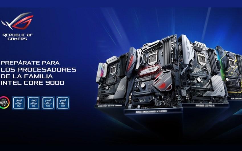 ASUS actualiza BIOS de sus placas madres serie 300 para  Intel® Core ™ 9000 series