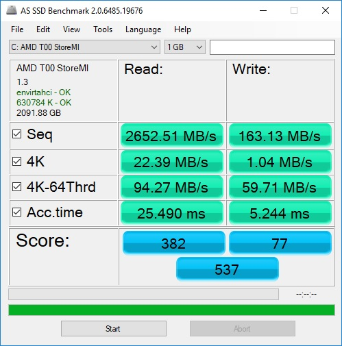 HDD+SSD con StoreMi  con caché