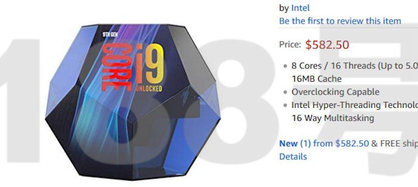Nuevo embalaje avistado para el Intel Core i9 9900K