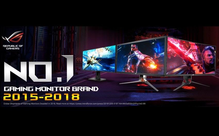 ASUS Republic of Gamers Revelado como Líder Mundial en Monitores Gamers 2018