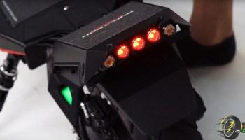 dualtron storm footrest brake lights