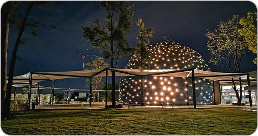 The 8K dome at the Lunaria Planetarium in Guadalajara