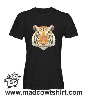 001 tigre tshirt nera uomo
