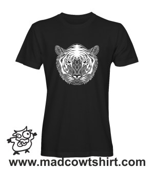 009 Tigre black and whithe tshirt nera uomo