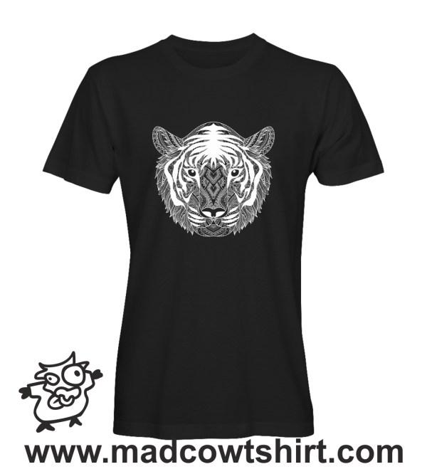 009 Tigre black and whithe tshirt nera uomo