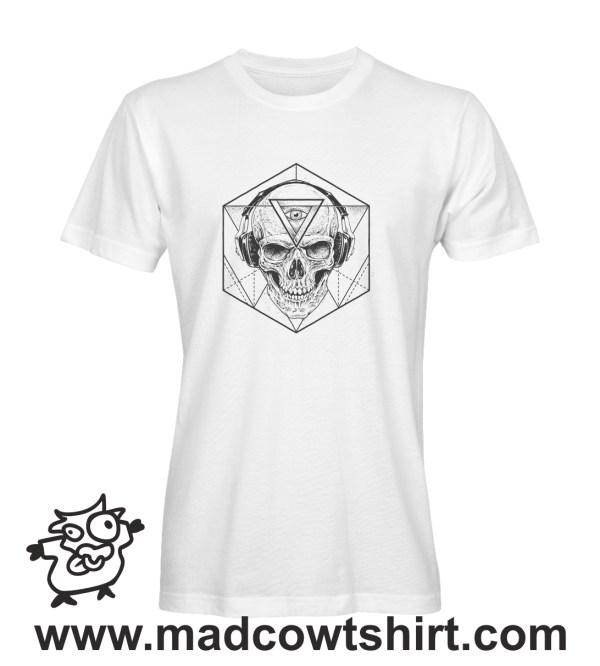 012 teschio tshirt bianca uomo