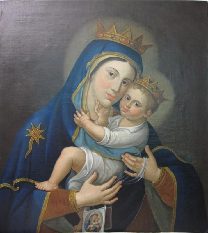 Restauro conservativo del dipinto olio su tela Madonna